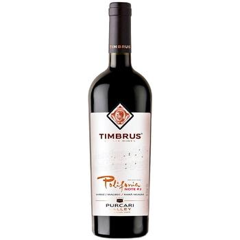 Вино Timbrus Polifonia Nr.2 красное сухое 0,75л - купить, цены на Метро - фото 1