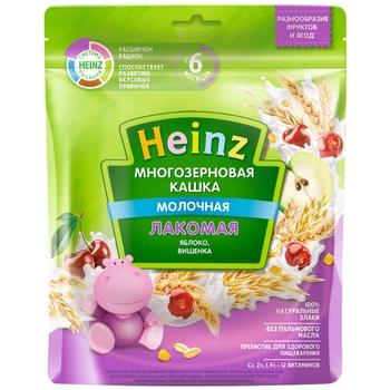 Каша многозерновая Heinz яблоко/вишня  170г - купить, цены на Метро - фото 1