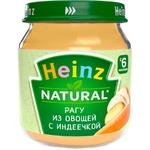 Пюре Heinz овощи/индейка 120г