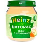 Пюре Heinz овощи/форель 120г