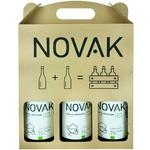 Вино белое набор Novak Alb de Onițcani 3 x 0.75л