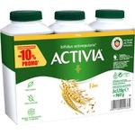 Питьевой йогурт Activia злаки 3x320г