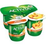 Йогурт Danone Activia с персиками/мюсли 4x125г