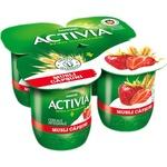 Йогурт Danone Activia с клубникой/мюсли 4x125г