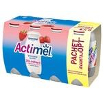 Йогурт питьевой Actimel с клубникой 100мл 6+2шт