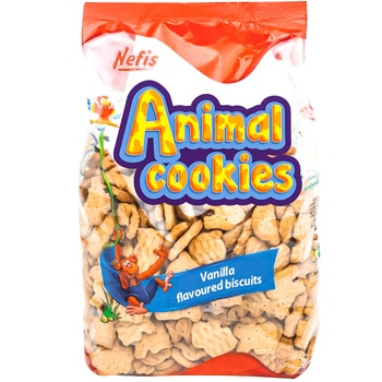 Печенье Nefis Animal Cookies 500г - купить, цены на Метро - фото 1