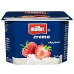 Крем-йогурт Muller с клубникой 125г