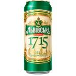 Пиво светлое Львівське 1715 ж/б 0,5л