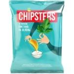 Chips Flint cu gust de smantina si verdeata 110g