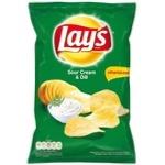 Chips Lay's cu gust de smantana si verdeata 215g