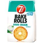 Сухарики 7Days Bake Rolls со вкусом сметаны и лука 80г