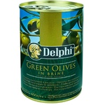 Оливки зеленые с косточкой Delphi 420г