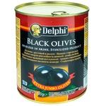 Măsline negre cu sâmbure Delphi 820g