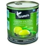 Оливки зеленые с косточкой Farmer Jumbo 820г