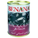 Masline negre Benanai cu sambure 420g