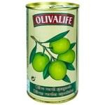 Măsline verzi cu sâmbure 24/26 Olivalife 350g