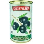 Măsline negre cu sâmbure 28/30 Olivalife 350g