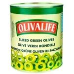 Оливки зелёные OlivaLife нарезанные 3150г