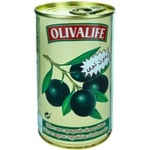 Măsline negre fără sâmbure 24/26 Olivalife 350g