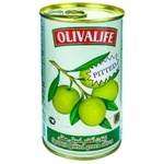 Măsline verzi fără sâmbure 24/26 Olivalife 350g