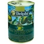 Оливки зеленые без косточки Delphi 400г