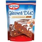 Glazura Duo Dr. Oetker cu gust ciocolata neagra 100g
