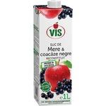Сок яблочно-черносмородиновый Vis осветленный без сахара 1л