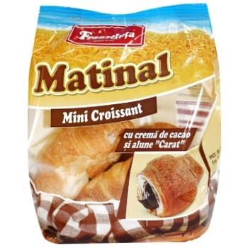 Мини-круассаны Franzeluta с орехово-шоколадным кремом Карат 130г - купить, цены на Метро - фото 1