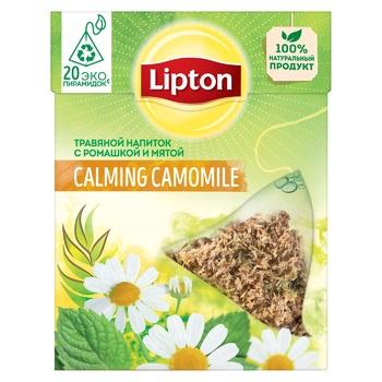 Чай травяной Lipton Calming Camomile с ромашкой и мятой 20 пирамидок х 0,7г - купить, цены на Метро - фото 3