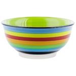 Салатник керамический с цветными линиями D14см