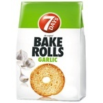 Сухарики 7Days Bake Rolls со вкусом чеснока 80г