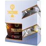 Коньяк Tezaur 5 лет VSOP Gold 0,5л сет коробка +2 бокала