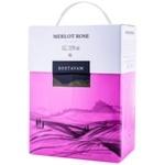 Вино Bostavan Merlot розе сухое bag in box 3л