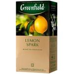 Ceai Greenfield negru in plicuri Lemon Spark 25x1,5g