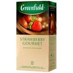 Ceai Greenfield negru cu capsuna in plicuri 25x1,5g