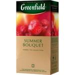 Ceai Greenfield cu zmeura in plicuri Summer Bouquet 25x2g