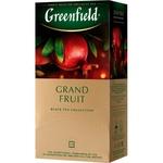 Ceai Greenfield negru in plicuri cu fructe 25x1,5g