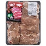 Свиной стейк из ошейка без костей охлажденный