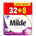Туалетная бумага Milde Relax 3 слоя 32+8 рулона