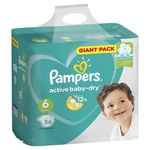 Scutece Pampers Active Baby 15+kg Nr.6 56buc