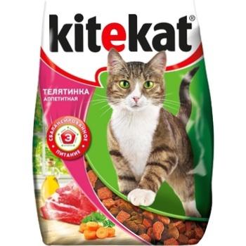 Корм сухой для кошек Kitekat телятина 350г - купить, цены на Метро - фото 1