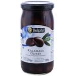 Măsline kalamata cu sâmbure Delphi 350g
