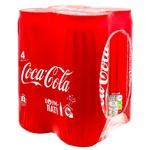 Напиток прохладительный газированный Coca-Cola ж/б 4х0,33л