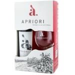Set Vin Apriori Cabernet/ Saperavi rosu sec 0,75l + pocal