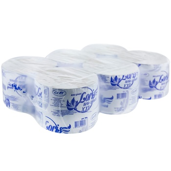 Туалетная бумага макулатурная Loris XXL 6рул - купить, цены на Метро - фото 1