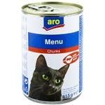 Корм для кошек ARO говядина 415г