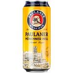 Bere blonda filtrata Paulaner doza 0,5l