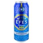 Пиво светлое Efes Pilsner ж/б 0,5л