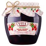 Варенье вишнёвое Vita с косточками 680г