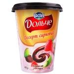 Десерт творожный Dolce клубника/киви/шоколад 350г